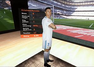 animation football réalité augmentée