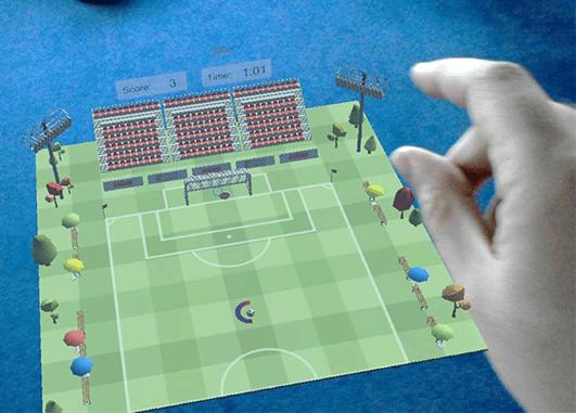 animation football hologramme finger