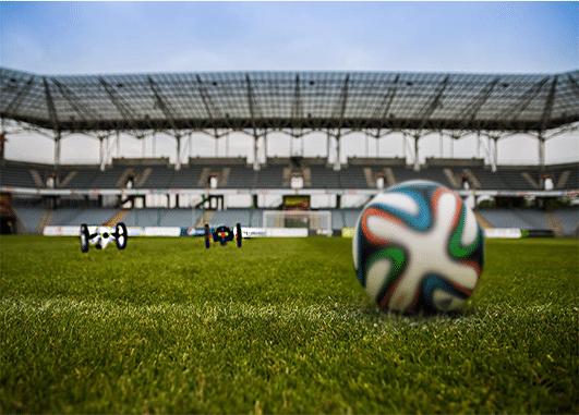 animation football drone football
