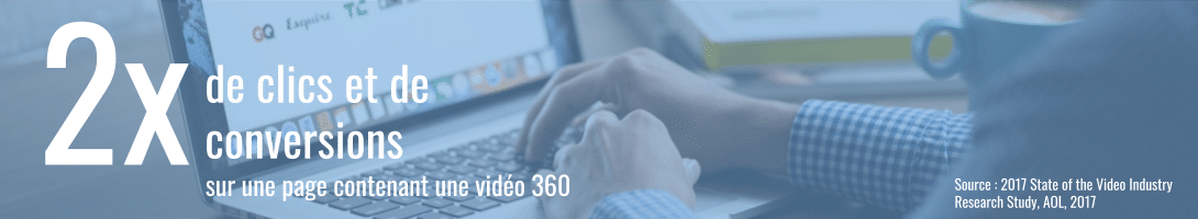 production vidéo 360 : 2 fois plus de clics et de conversions