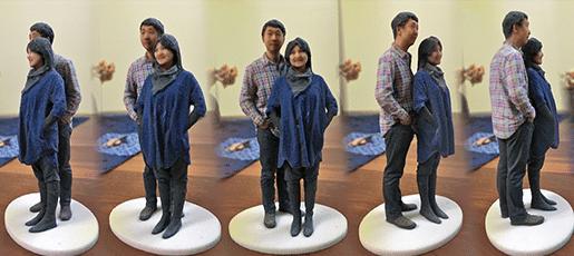 animation figurine 3d couple