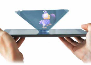 hologramme dodo sur tablette