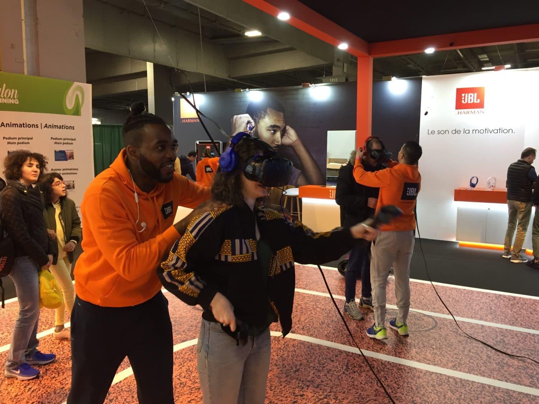 animation réalité virtuelle simulation course à pied