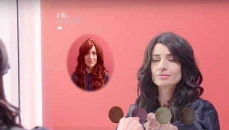 le miroir interactif, miroir avec réalité augmentée