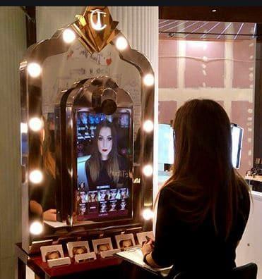 le miroir interactif,miroir avec réalité augmentée