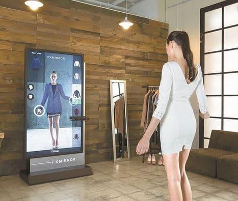 le miroir interactif, objectifs animation commerciale,miroir avec réalité augmentée