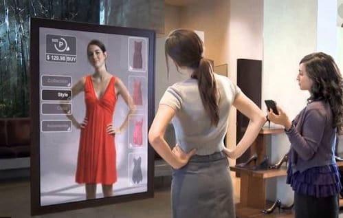 le mioir interactif, miroir avec réalité augmentée
