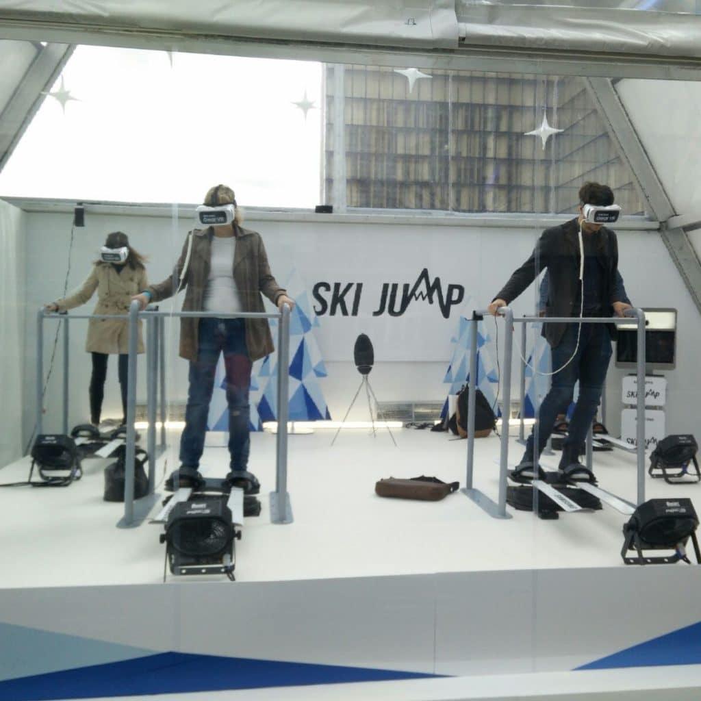 simulateur de ski