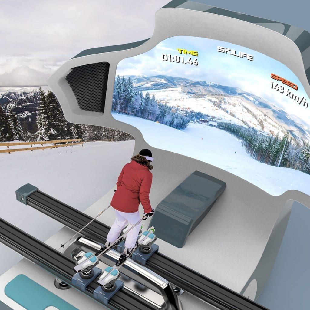 simulateur de ski vr