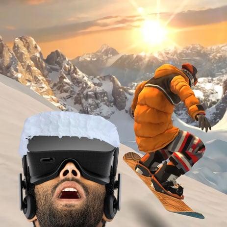simulateur de snowboard vr