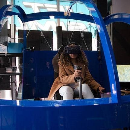 simulateur d'hélicoptère vr